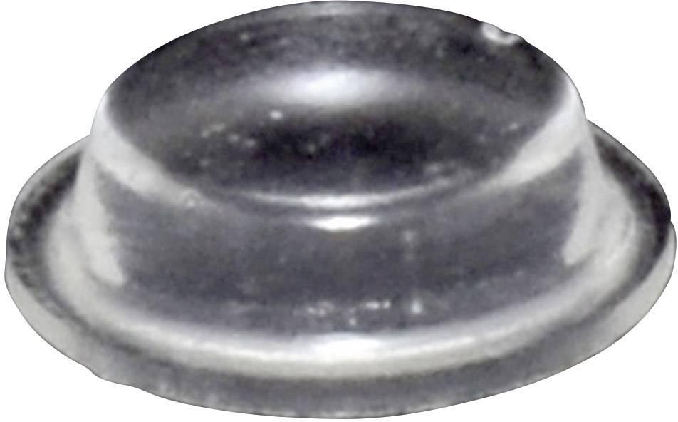 Podstavná nôžka prístrojová TOOLCRAFT PD9125C, (Ø x v) 12.7 mm x 3.5 mm, priehľadná, 1 ks