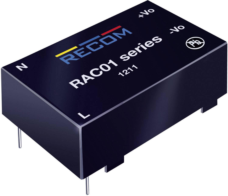 Sieťový zdroj do DPS Recom International RAC01-12SC, 12 V/DC, 0,083 A, 1 W