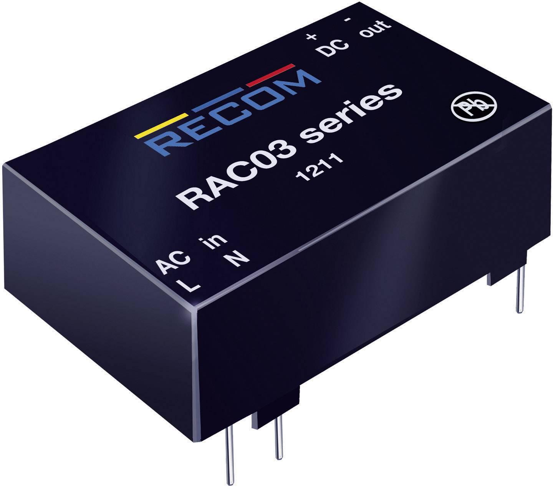 Sieťový zdroj do DPS Recom International RAC03-24SC, 24 V/DC, 0,125 A, 3 W