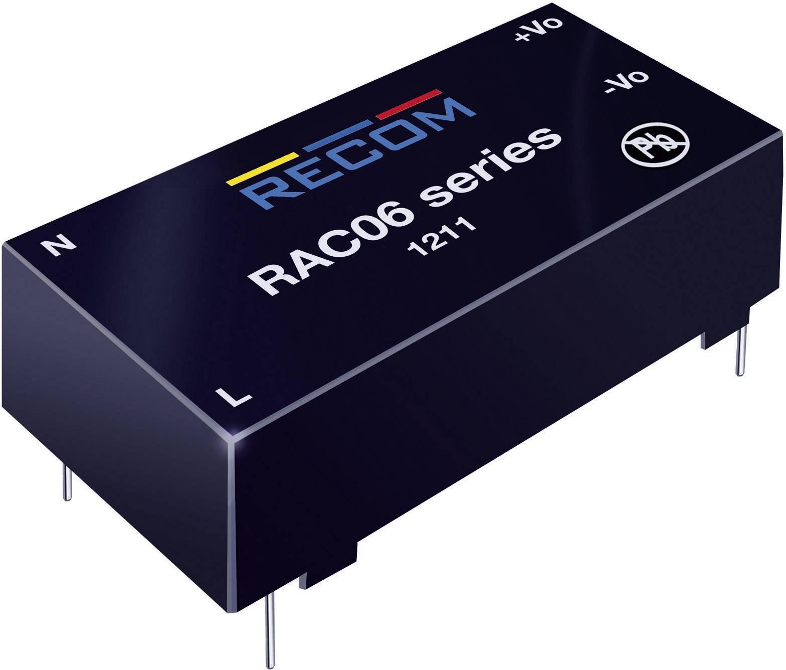 Sieťový zdroj do DPS Recom International RAC06-24SC, 24 V/DC, 0,25 A, 6 W