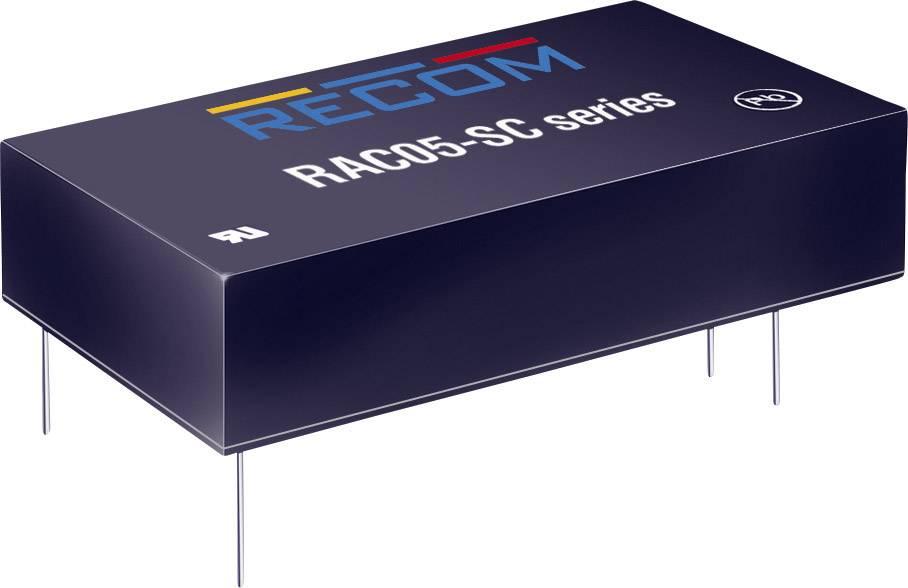 Sieťový zdroj do DPS Recom International RAC05-12SC, 12 V/DC, 0,42 A, 5 W