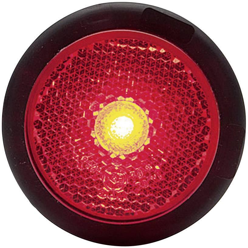 LED obrysové světlo, kulaté, červené