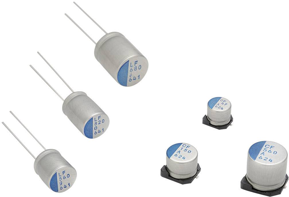 SMD kondenzátor elektrolytický Nichicon PCX1H100MCL1GS, 10 mF, 50 V, 20 %, 7 x 8 mm