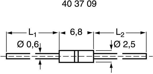 Rezistor 0207, 250 V, 10 A, 0R0