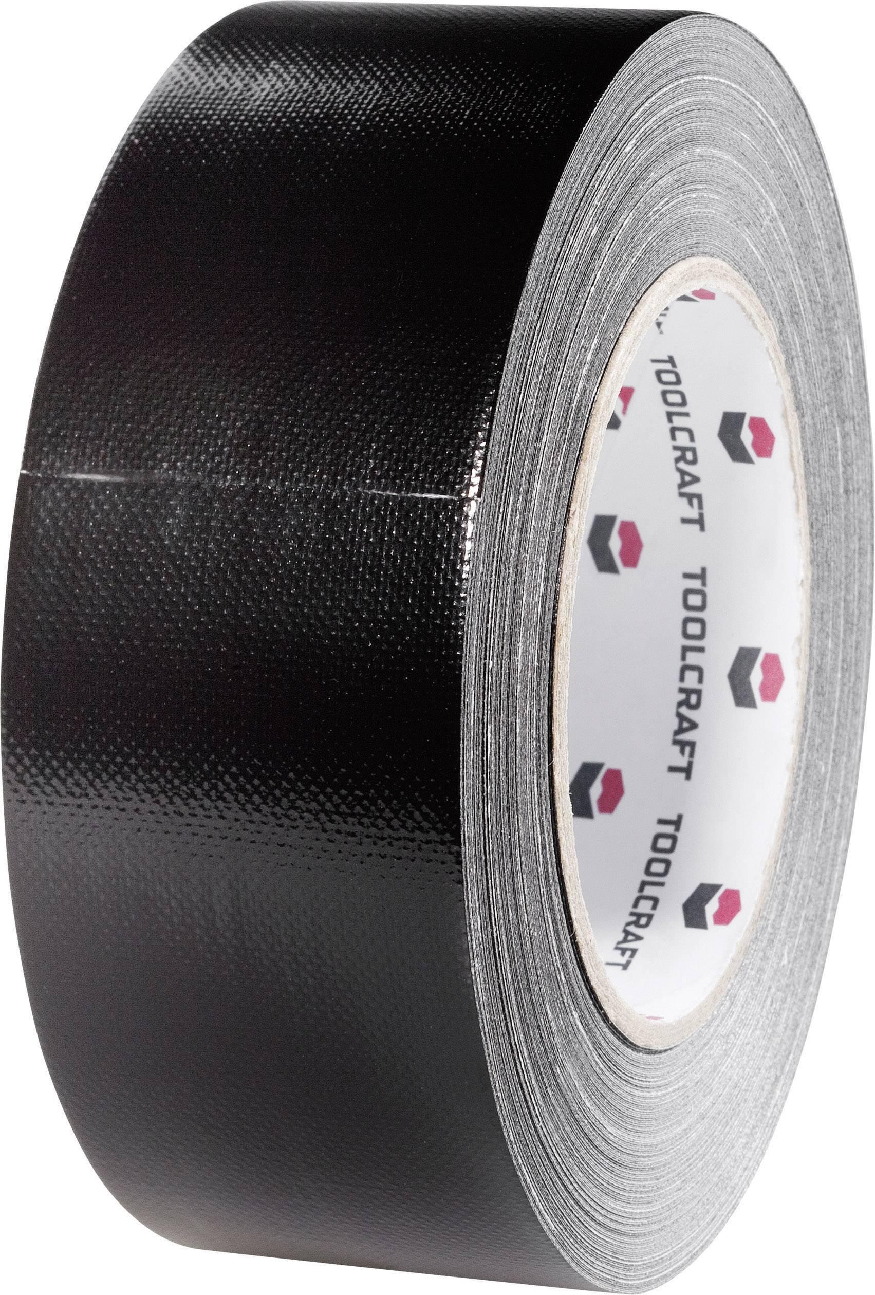 Páska so skleným vláknom TOOLCRAFT 54B48L20SC 54B48L20SC, (d x š) 20 m x 48 mm, čierna, 1 roliek