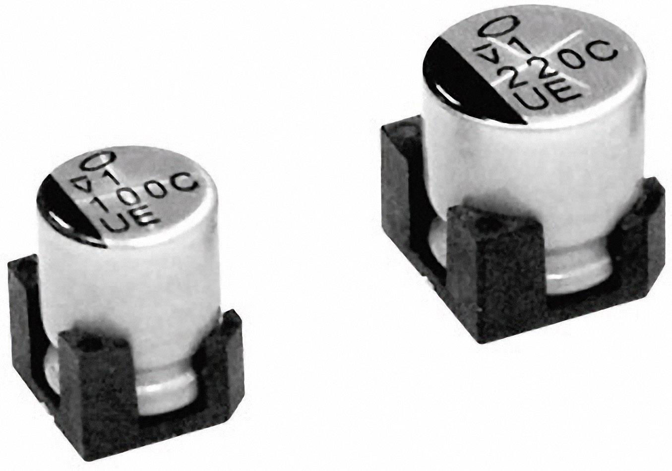SMD kondenzátor elektrolytický Nichicon UUE1E221MNS1GS, 220 mF, 25 V, 20 %, 10 x 10 m