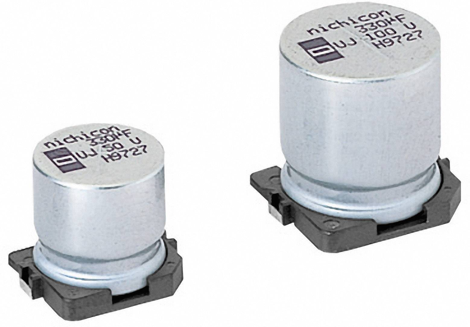 SMD kondenzátor elektrolytický Nichicon UUJ1V331MNQ1MS, 330 mF, 35 V, 20 %, 16 x 12,5