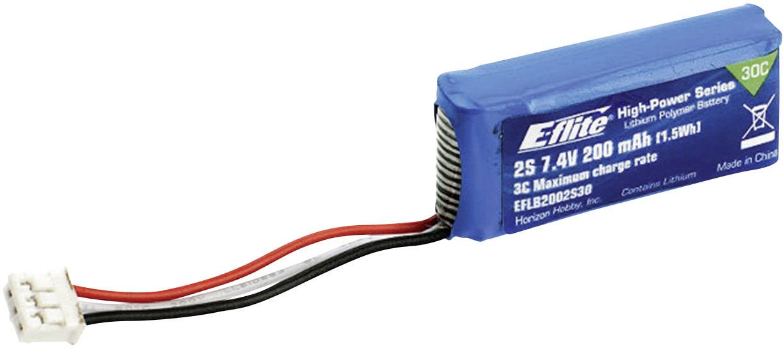 Akupack Li-Pol E-flite EFLB2002S30, 7.4 V, 200 mAh