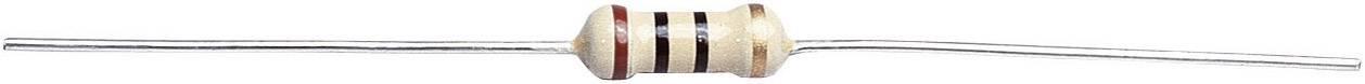 Uhlíkový rezistor, 100 Ω, 0411, axiální vývody, 0,5 W, 5 %