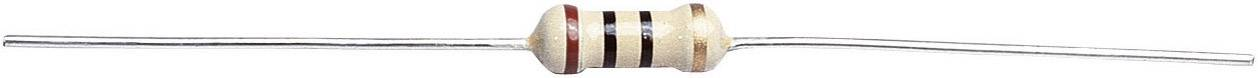 Uhlíkový rezistor 1.5 kOhm, axiálne vývody, 0411, 0.5 W, 1 ks