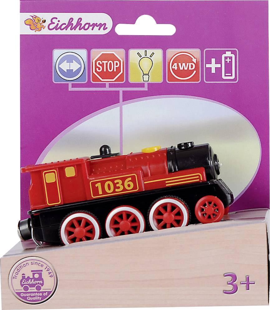 Lokomotiva pro dřevěný vláčky Eichhorn 100001303, 4 funkce
