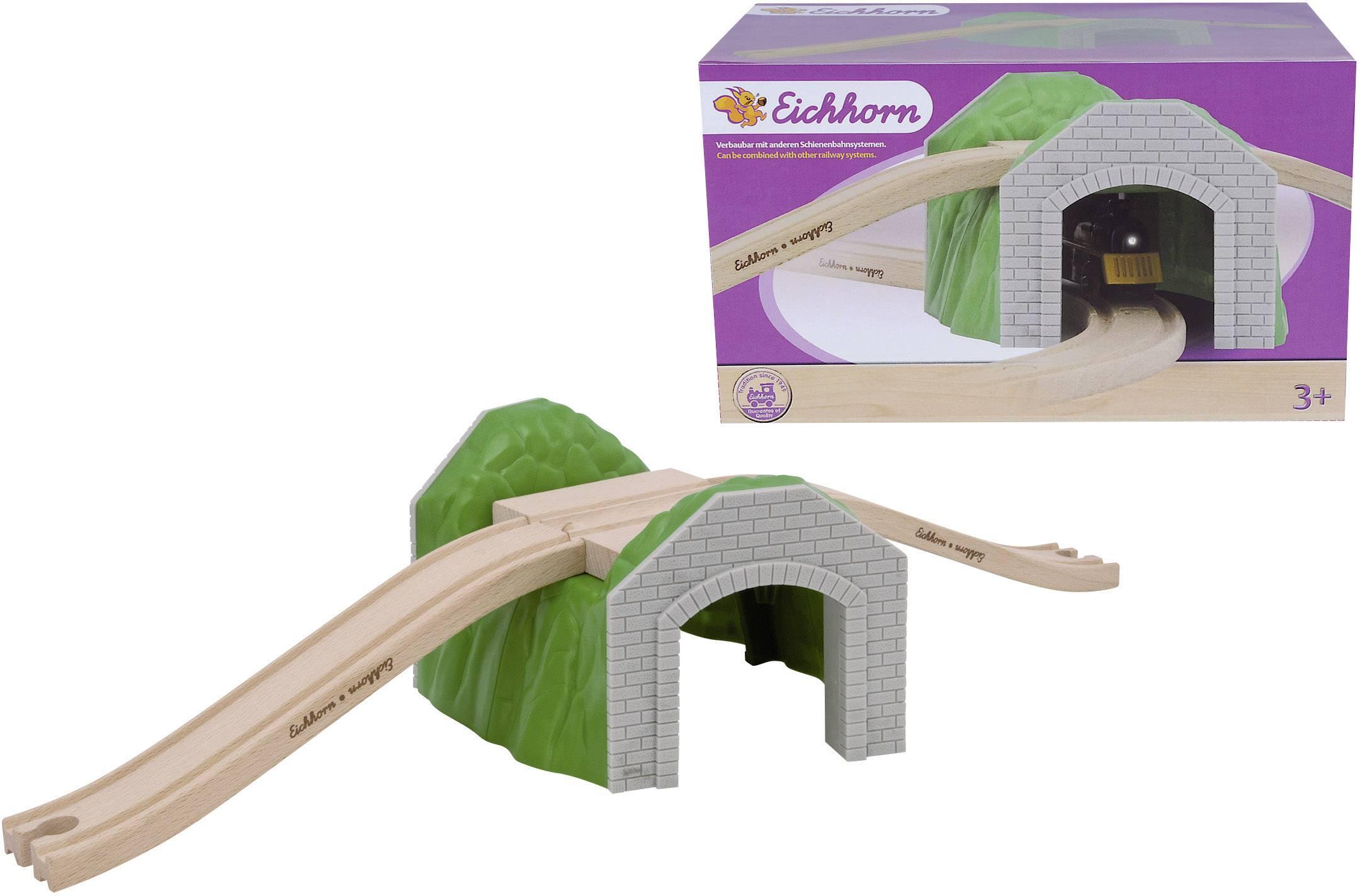 Dřevěné vláčky Eichhorn 100001513, tunel s nadjezdem