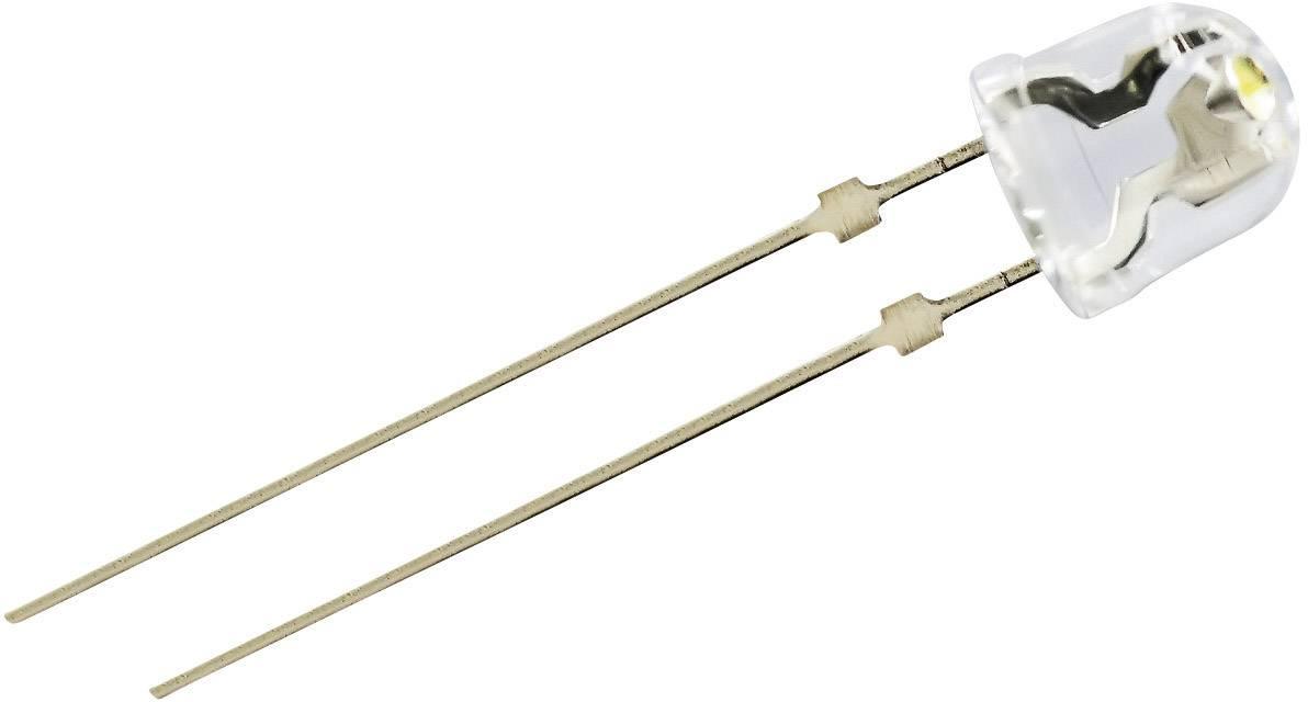 LEDsvývodmi Nichia NSDW570GS-K1, typ šošovky guľatý, 5 mm, biela