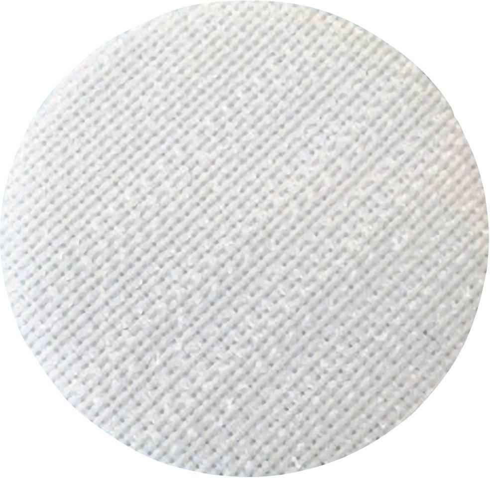 Lepiaci guľatý suchý zips Fastech T01035000003C1, (Ø) 35 mm, biela, 1 ks