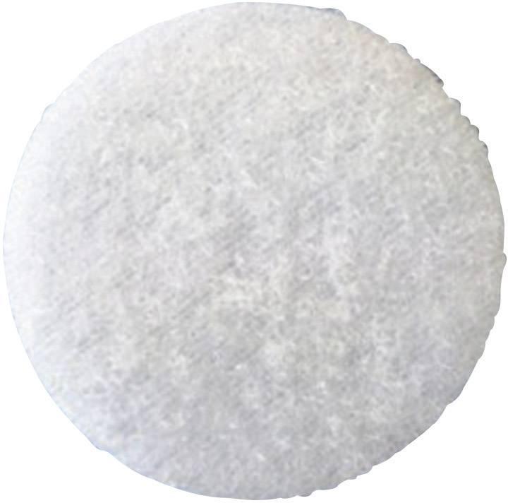 Lepiaci guľatý suchý zips Fastech T02035000003C1, (Ø) 35 mm, biela, 1 ks