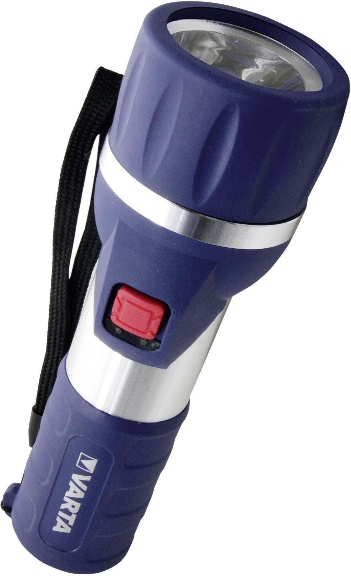 LED vreckové svietidlo (baterka) Varta Day Light 2 D 17626101421, 198 g, na batérie, modrá, strieborná