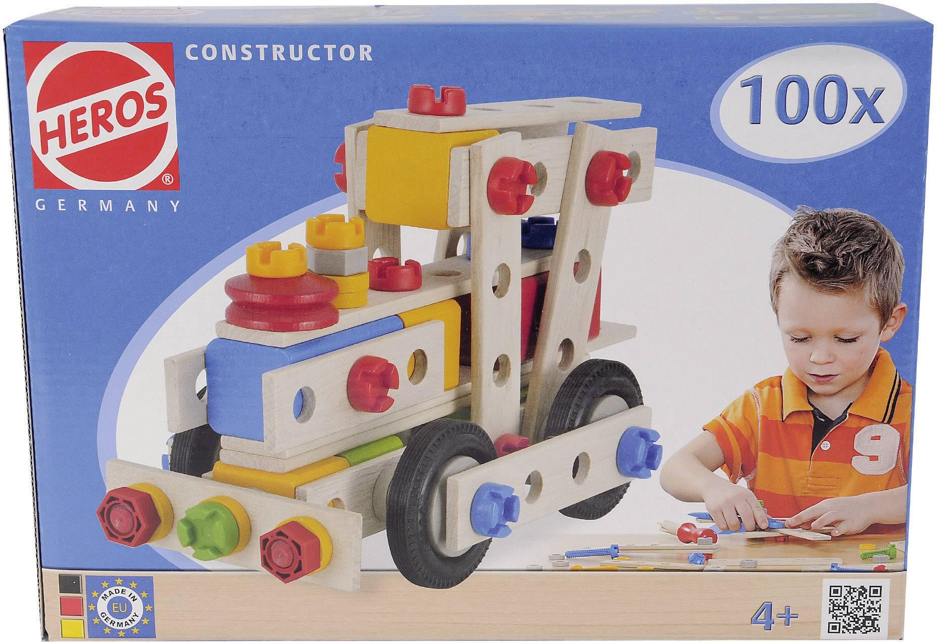 Stavebnica z dreva Heros 100039027 počet dielov: 100 počet modelov: 6 od 4 rokov