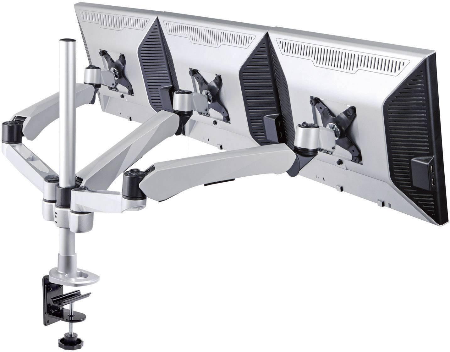 """Stolový držiak monitoru SpeaKa Professional SP-1624812, 25,4 cm (10"""") - 61,0 cm (24""""), striebornočierná"""