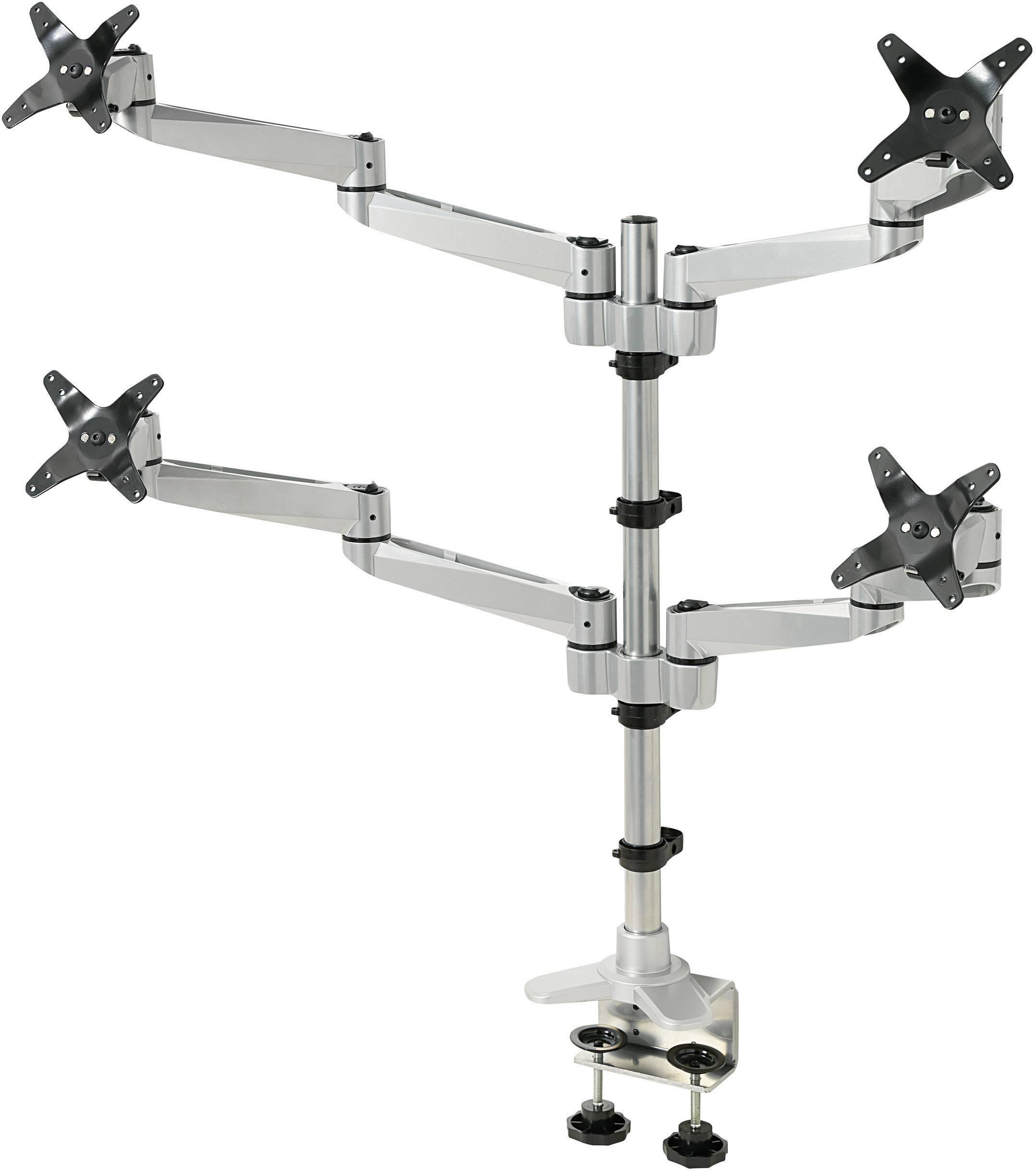 """Stolový držiak monitoru SpeaKa Professional SP-1624824, 25,4 cm (10"""") - 68,6 cm (27""""), striebornočierná"""