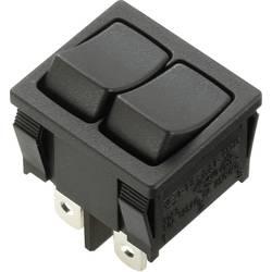 Kolébkový spínač série Marquardt 1806.1102, 2x vyp/zap, 250 V/AC, 6 A, černá