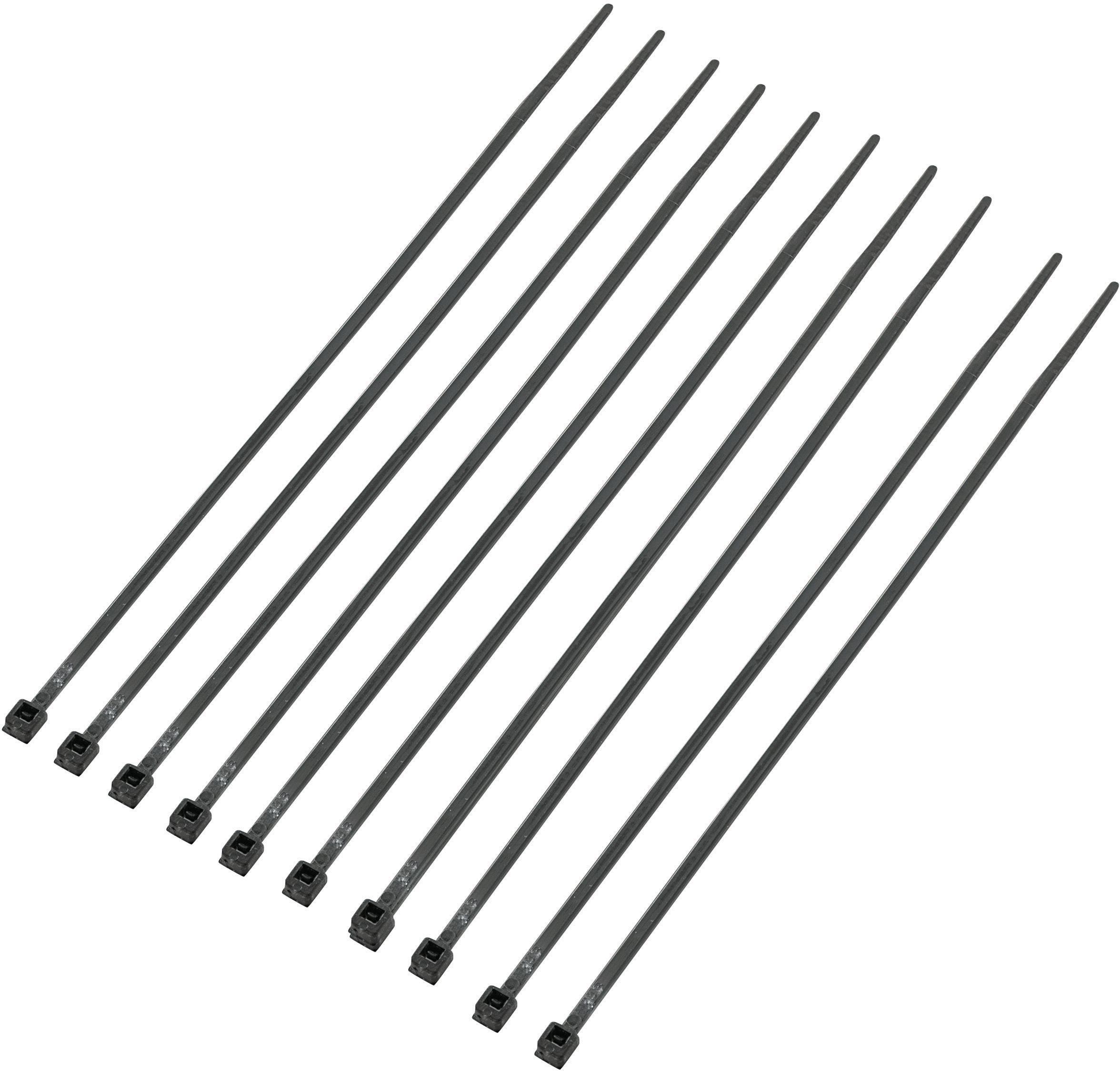 Standardna kabelska vezica z notranjimi zarezami (D x Š) 150 mm x 2.5 mm CV150KBK črna 1000 kosov, KSS