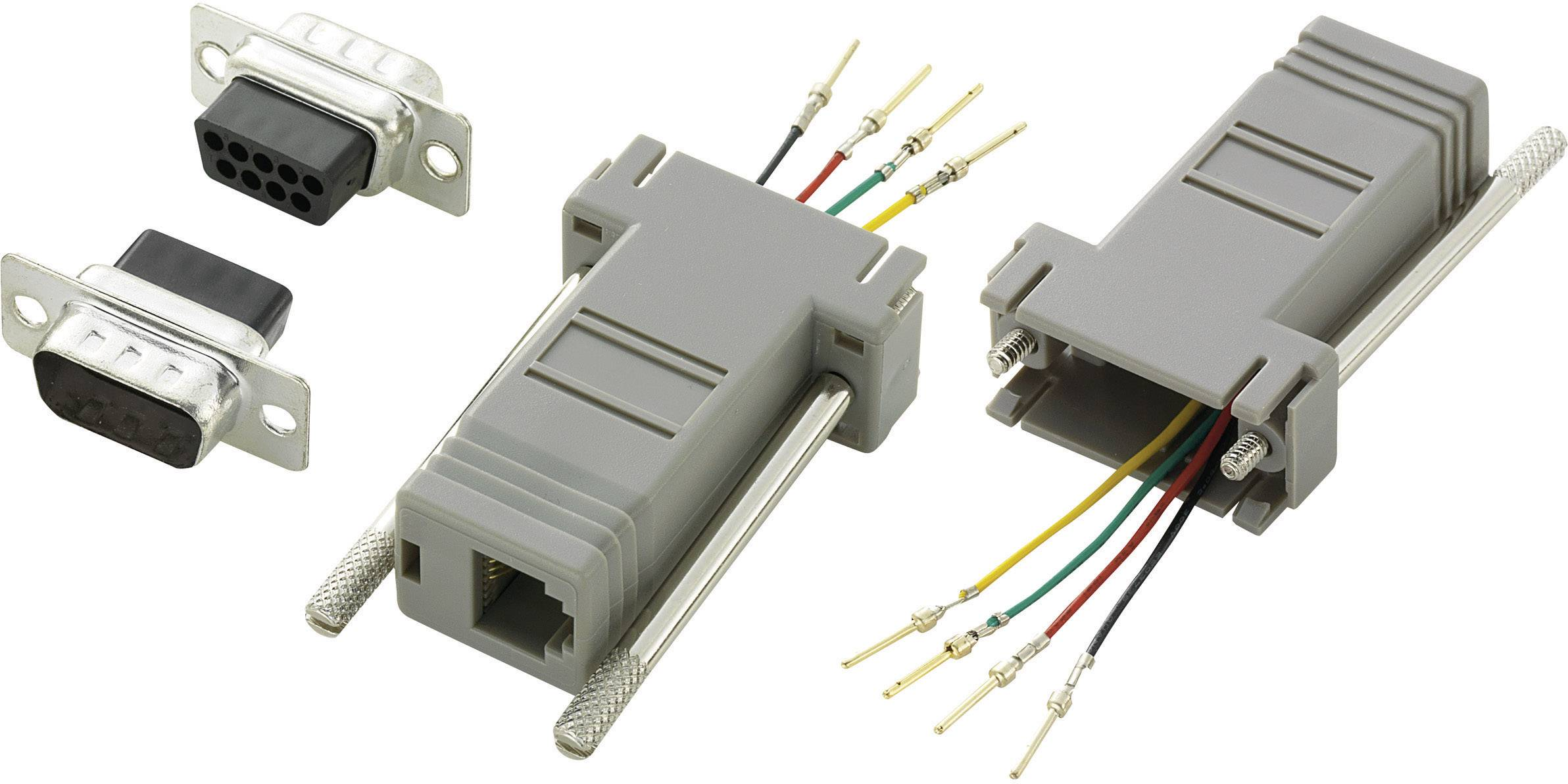 D-SUB adaptér D-SUB zástrčka 9pólová - RJ11 zásuvka Conrad Components 1 ks