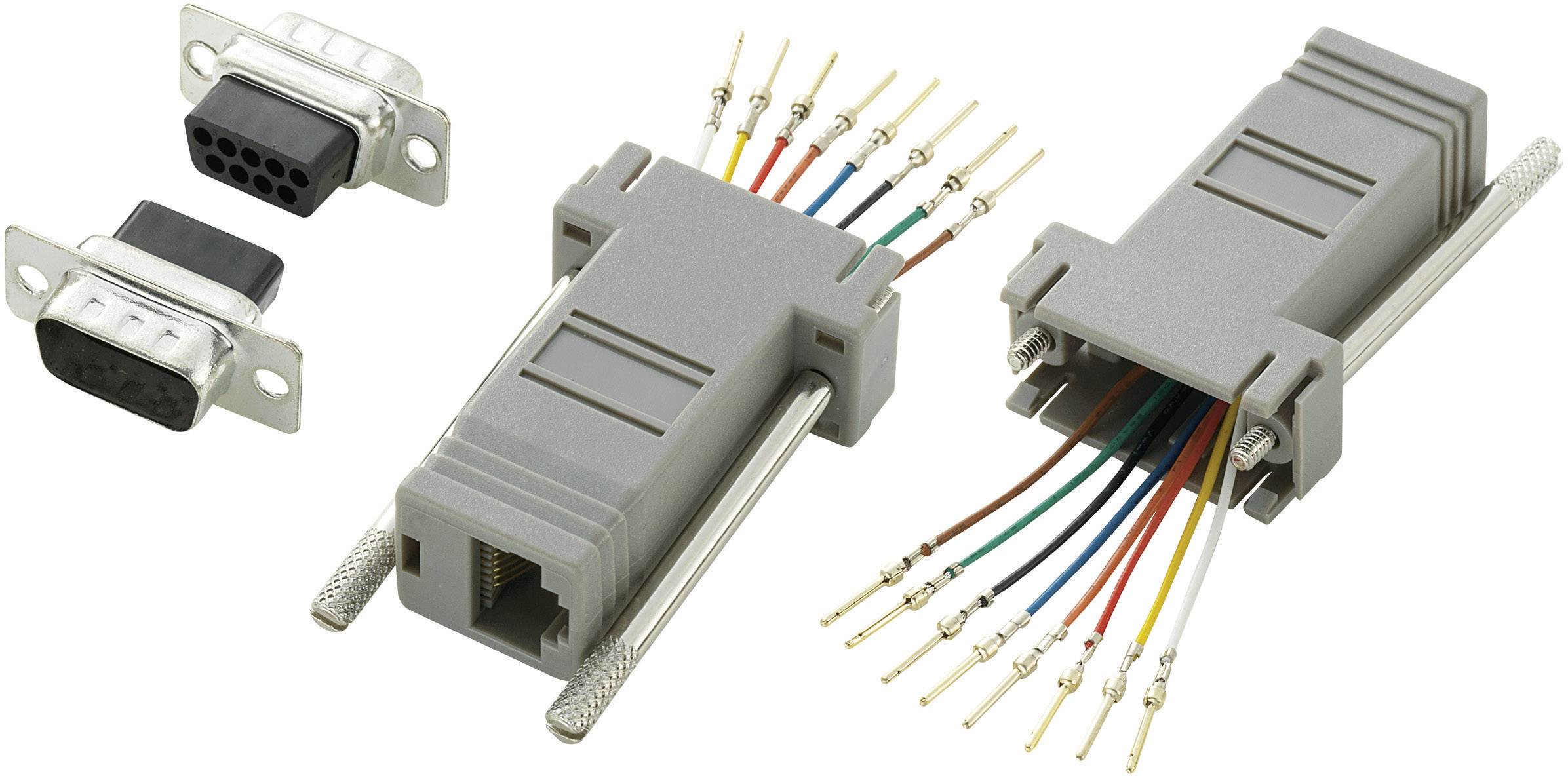 D-SUB adaptér TRU COMPONENTS, D-SUB zástrčka 9pólová - RJ45 zásuvka 1 ks