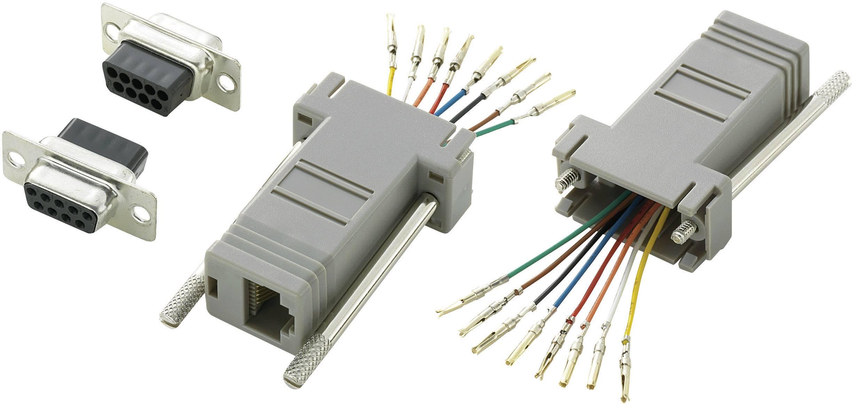 D-SUB adaptér TRU COMPONENTS 407772 D-SUB zásuvka 9-pólová - RJ45 zásvuka, 1 ks