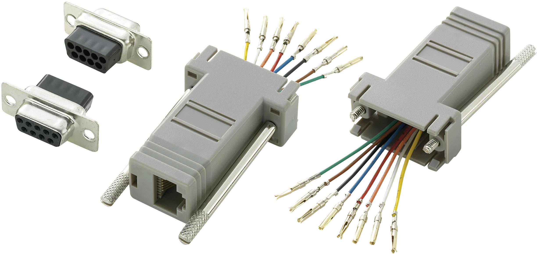 D-SUB adaptér TRU COMPONENTS 407772 D-SUB zásuvka 9pólová - RJ45 zásuvka, 1 ks