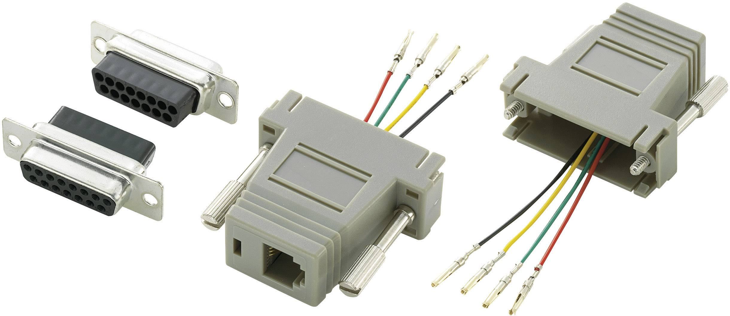 D-SUB adaptér Conrad Components Počet pinov 15, 1 ks