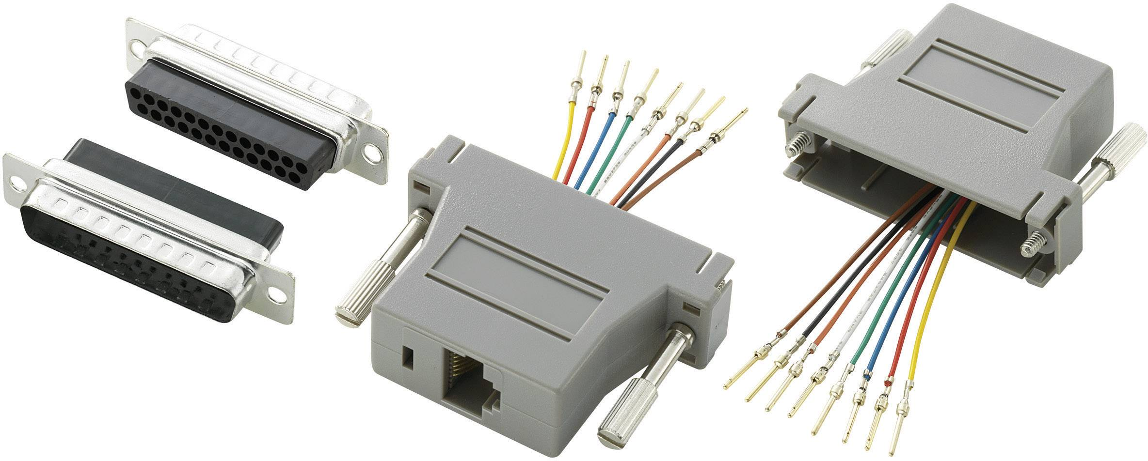 D-SUB adaptér TRU COMPONENTS 407783 D-SUB zástrčka 25pólová - RJ45 zásuvka, 1 ks