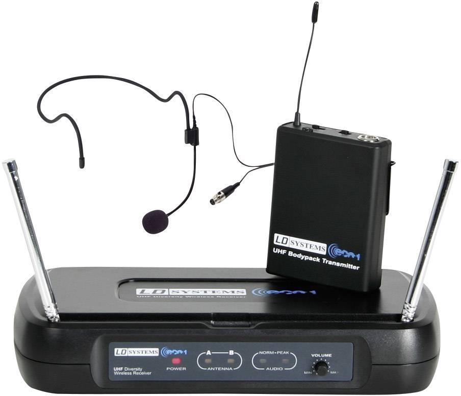 Bezdrôtový sada bezdrôtového mikrofónu headset LD Systems ECO 2 LDWSECO2BPH1