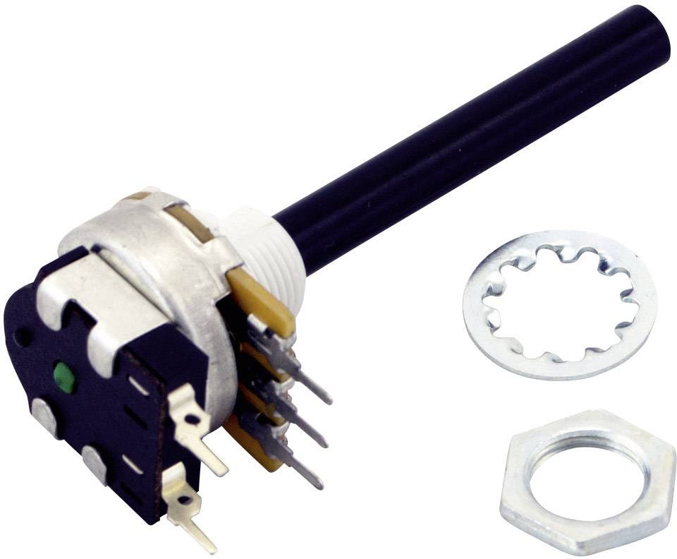 Otočný potenciometr OMEG, PC20BU/PC1S 10K A F1 CPW, 10 kΩ
