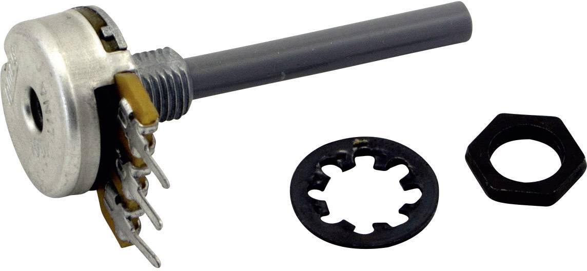 Otočný potenciometer mono OMEG PC16BU 470K A F22 CEP PC16BU 470K A F22 CEP, 470 kOhm, 1 ks