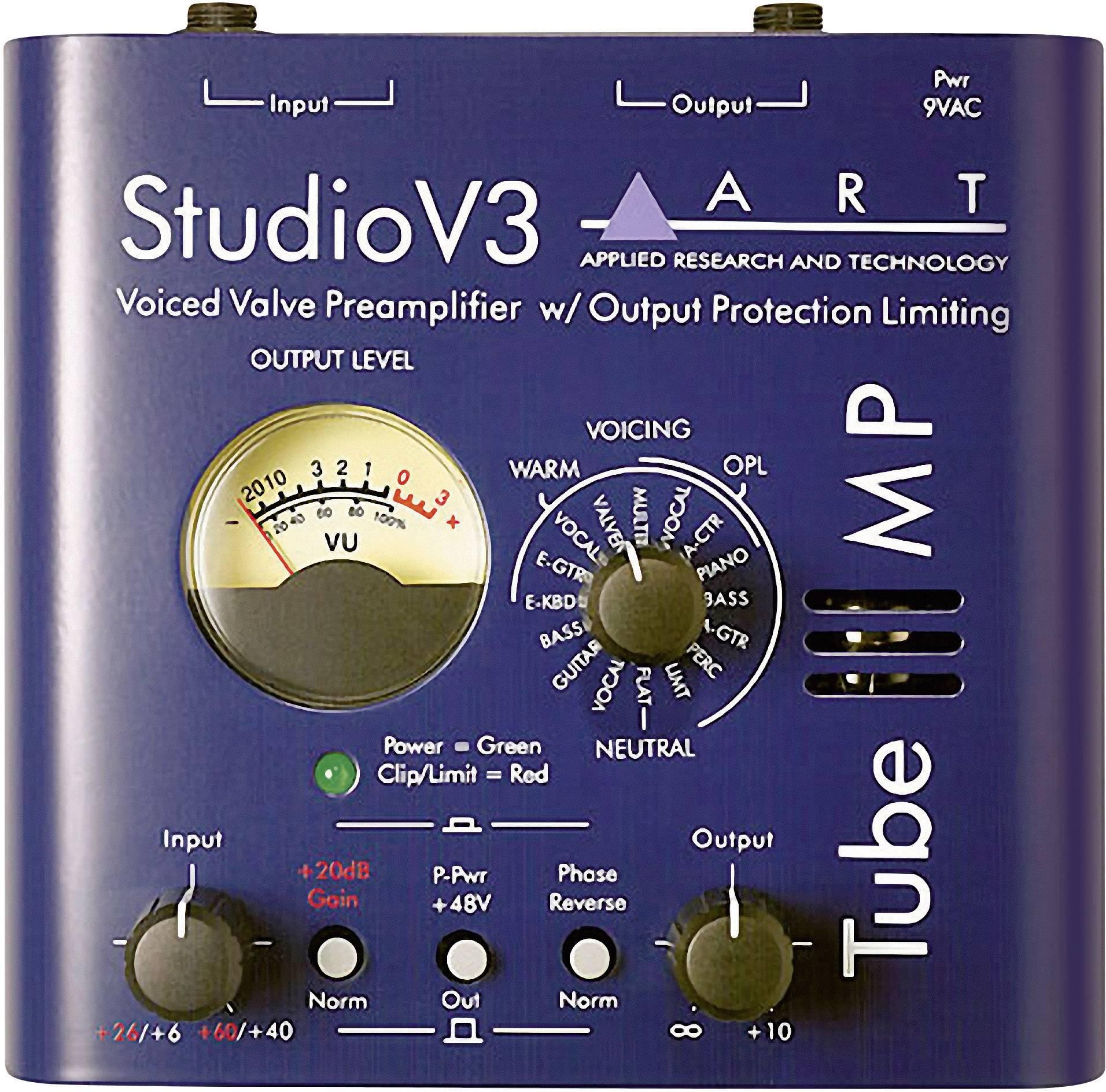 Mikrofónny predzosilňovač ART Audio TUBE MP V3, 1-kanálový