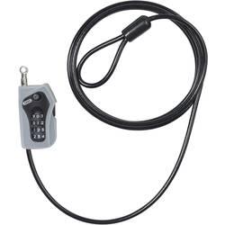 Lankový zámok ABUS 205/200 black, (Ø x d) 5 mm x 2000 mm, čierna/strieborná