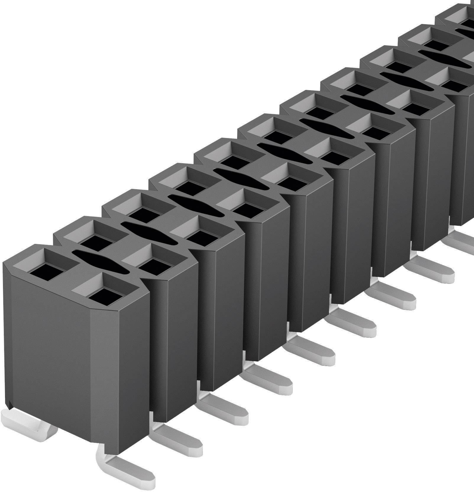 Zásuvková lišta (štandardná) Fischer Elektronik BL LP 6 SMD/ 40/Z, řádky 2, kontakty na řádek 20, 1 ks
