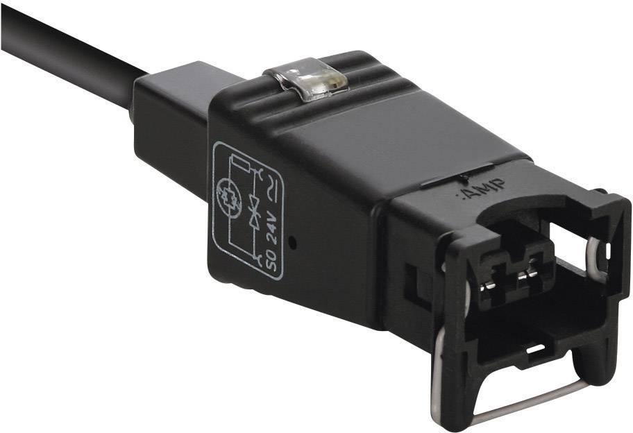 Ventilový konektor AMP Junior Timer Lütze 709482, IP65, zástrčka rovná, 2,5 m, 2pólový