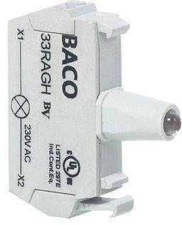 LED kontrolka BACO 33RAYL, žlutá, 12 V/DC, 24 V/DC, 1 ks