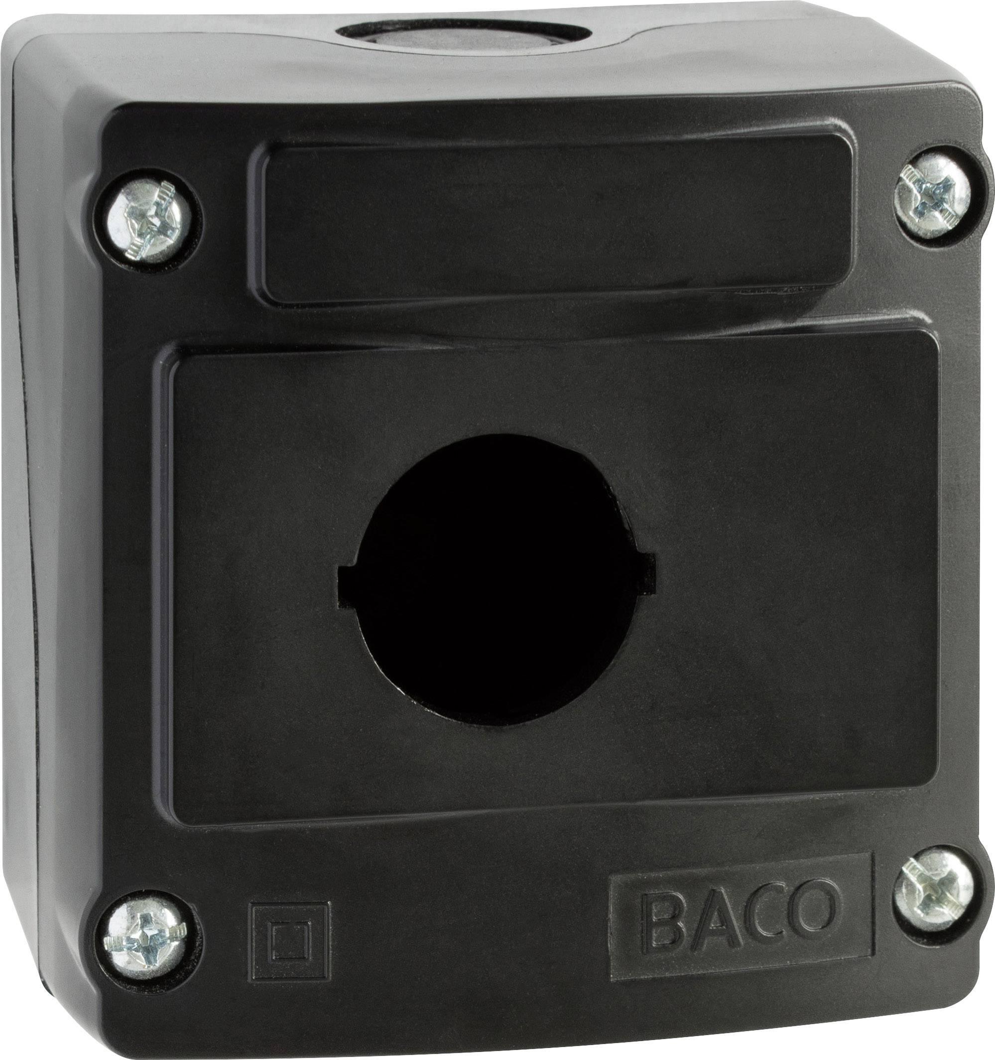 Pouzdro 1násobné BACO LBX0100NR (100530), černá