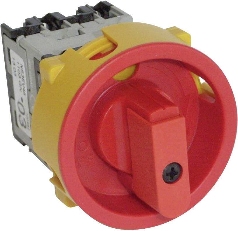 Odpínač odblokovateľný BACO NS4EV48 200501, 20 A, 400 V, 1 x 90 °, červená, žltá, 1 ks