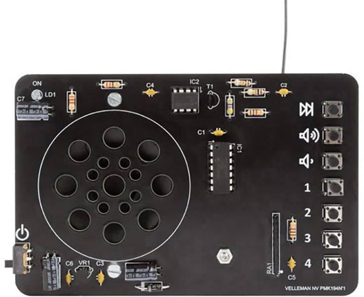 Rádio s digitálním laděním a ovládáním Velleman MK194, 9 V/DC (stavebnice)