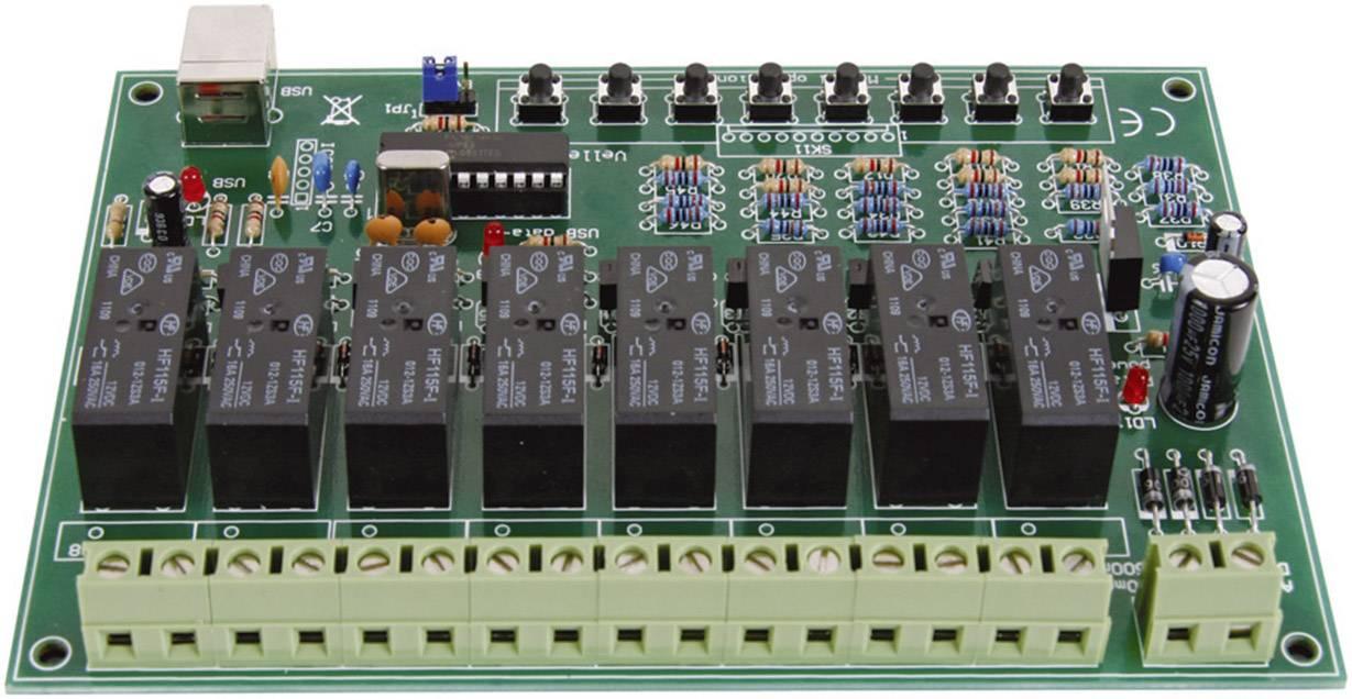 Relé karta stavebnicový diel Velleman VM8090 9 V/DC, 12 V/DC