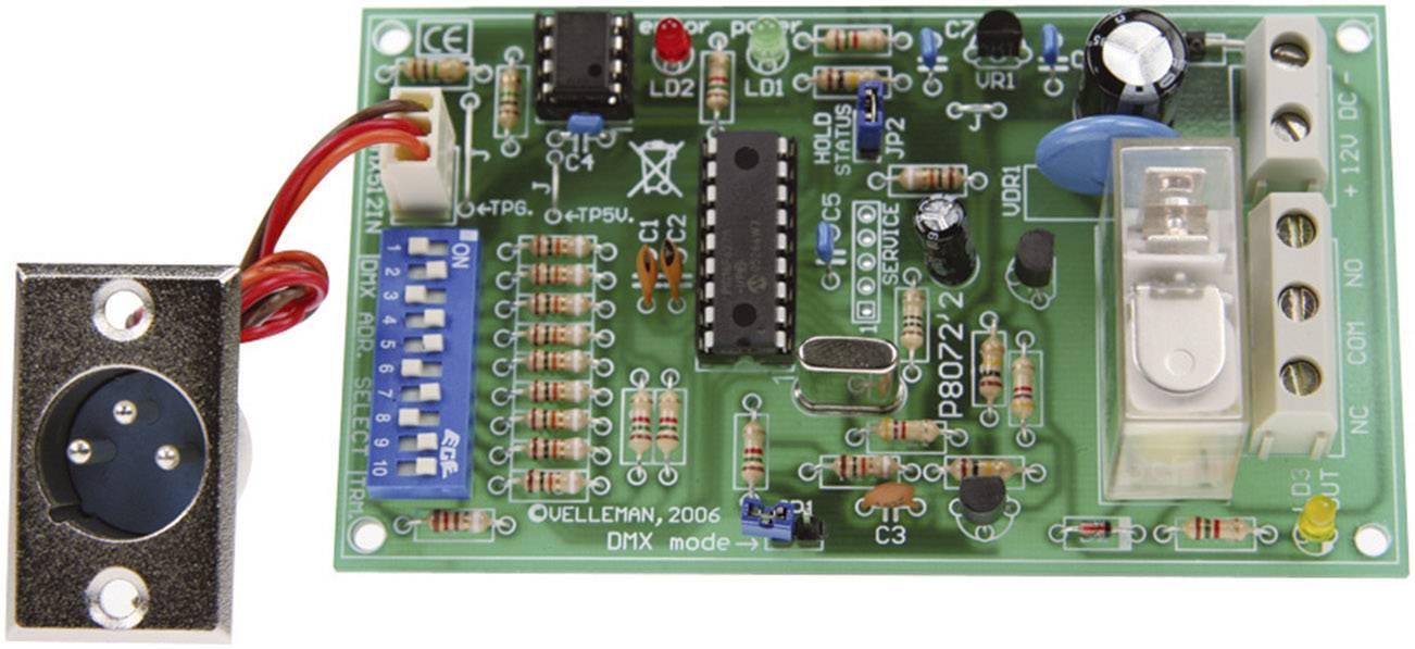 Relé karta stavebnicový diel Velleman VM138 12 V/DC