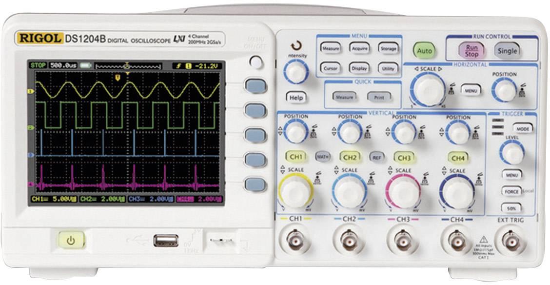 Digitálny osciloskop Rigol DS1204B, 4 kanály, 200 MHz