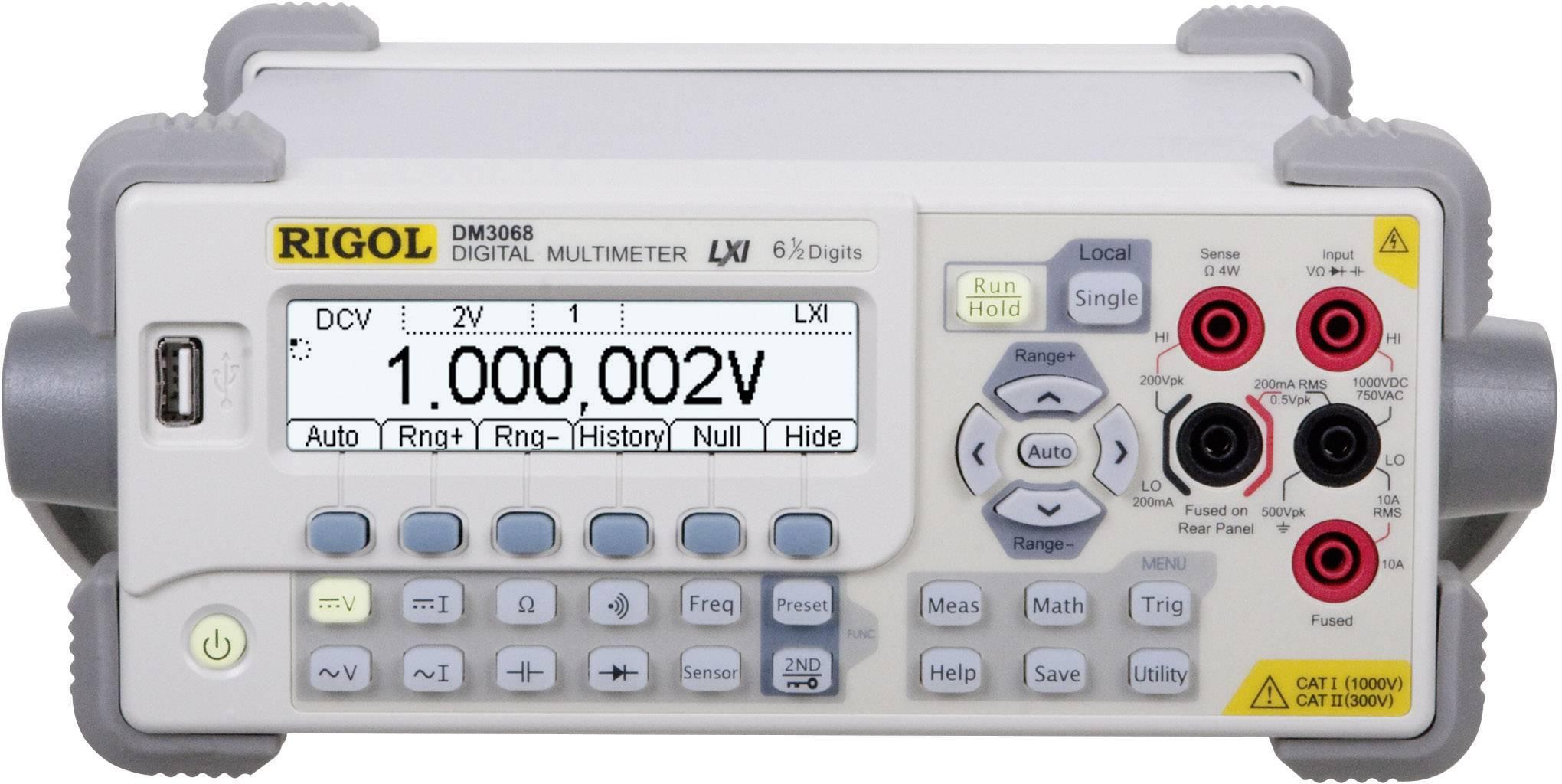 Digitální stolní multimetr Rigol DM3068, Kalibrováno dle ISO
