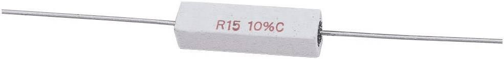 Vysokovýkonný rezistor hodnota odporu 0.22 Ohm, axiálne vývody, 5 W, 1 ks