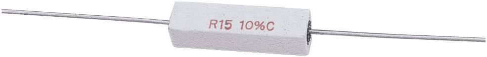 Vysokovýkonný rezistor hodnota odporu 82 Ohm, axiálne vývody, 5 W, 1 ks
