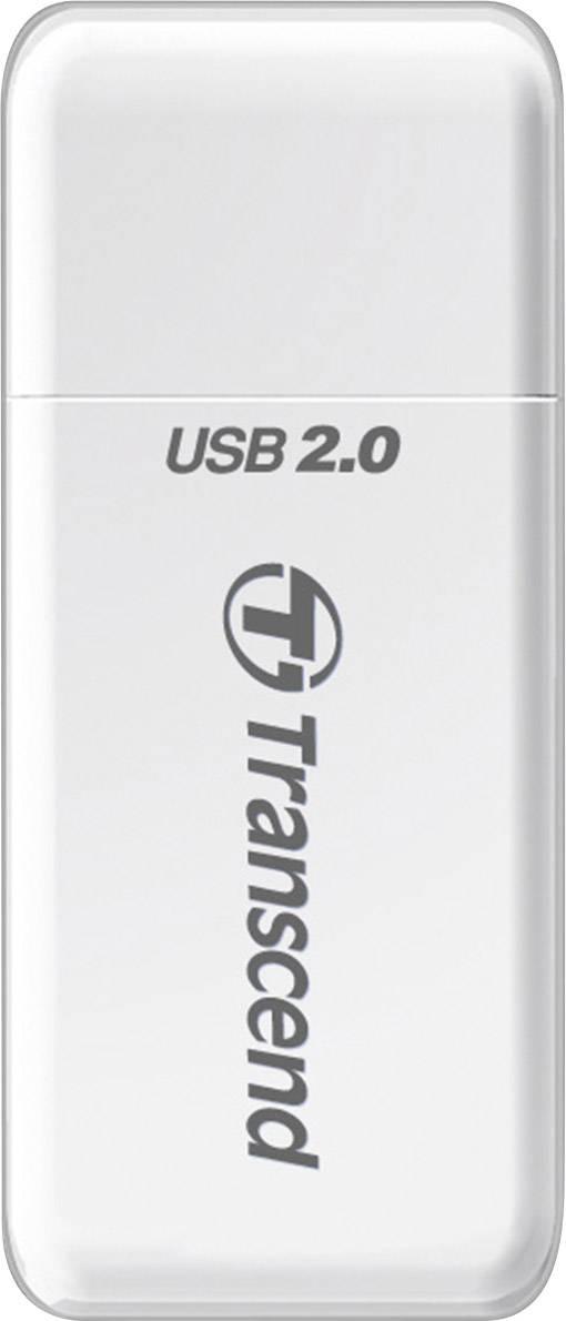 Externá čítačka pamäťových kariet Transcend P5 TS-RDP5W, USB 2.0, biela