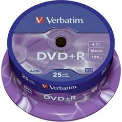 DVD+R 4.7 GB Verbatim 43500, 25 ks, vreteno
